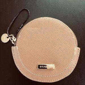 Brahmin Slim Melbourne Embossed Leather Round Case